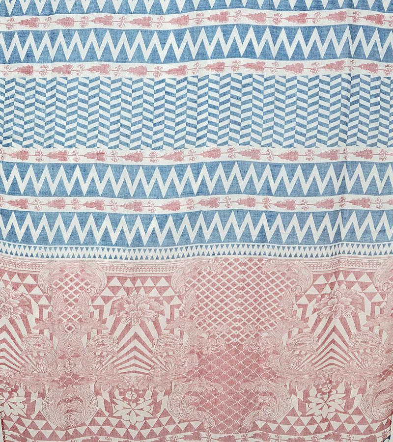 Langschal rosa blau