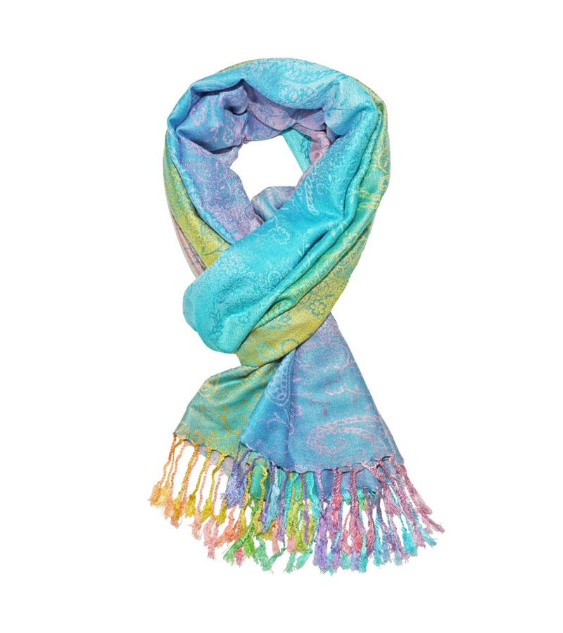 9e798a3f6ca211 Pashmina Schal Paisley blau - Tuch & Tuch