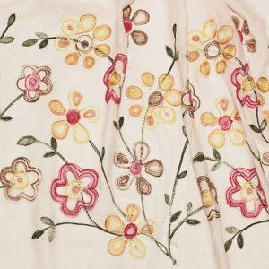Tuch rosa mit Blumenmuster