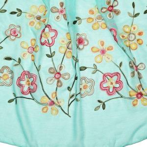 tuerkiser Schal mit Blumenmuster