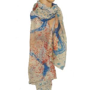 Viskose Schal blau