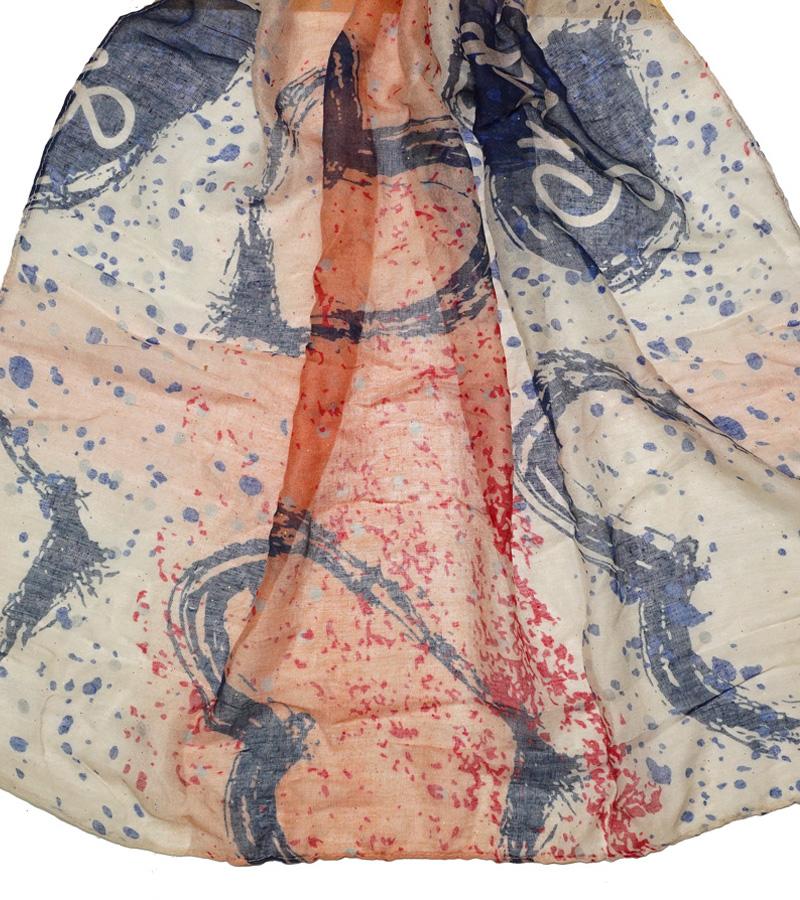 Viskose Schal dunkelblau