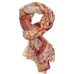 Viskose Schal rot