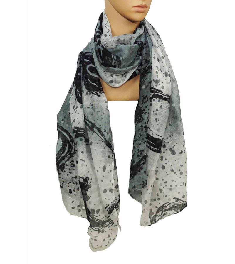 Viskose Schal grau