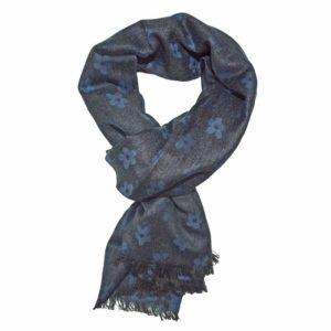 Winterschal Azalea blau-grau