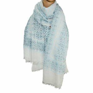 Tuch Orlanda weiß-blau